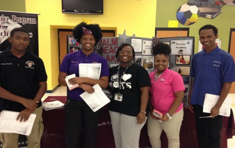 FCCP students with Alesia Boxill (Teacher Academy graduate and Watkins teacher)