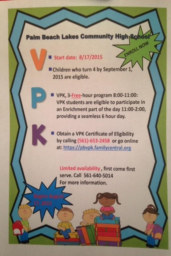 Free VPK @ PBL This Fall – PBL Choice News