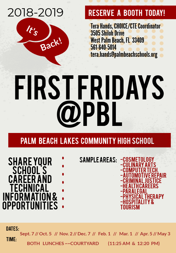 FirstFridays%40PBL...Welcome+Back%21
