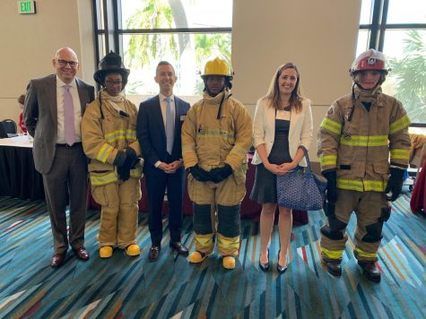 Fire Academy Students...Representing Lakes, Choice & Career Options for PBC, JP Morgan Chase, and the Education Foundation