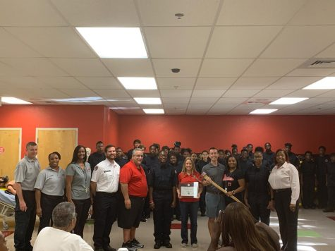 Fire Academy Students…Representing Lakes, Choice & Career Options for PBC, JP Morgan Chase, and the Education Foundation