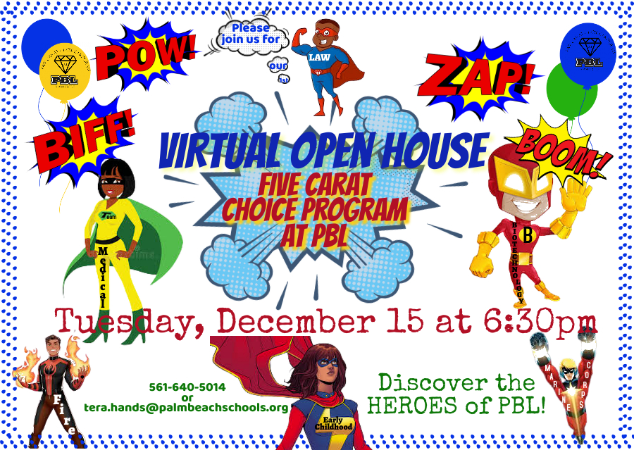 Come See the PBL Superheroes!