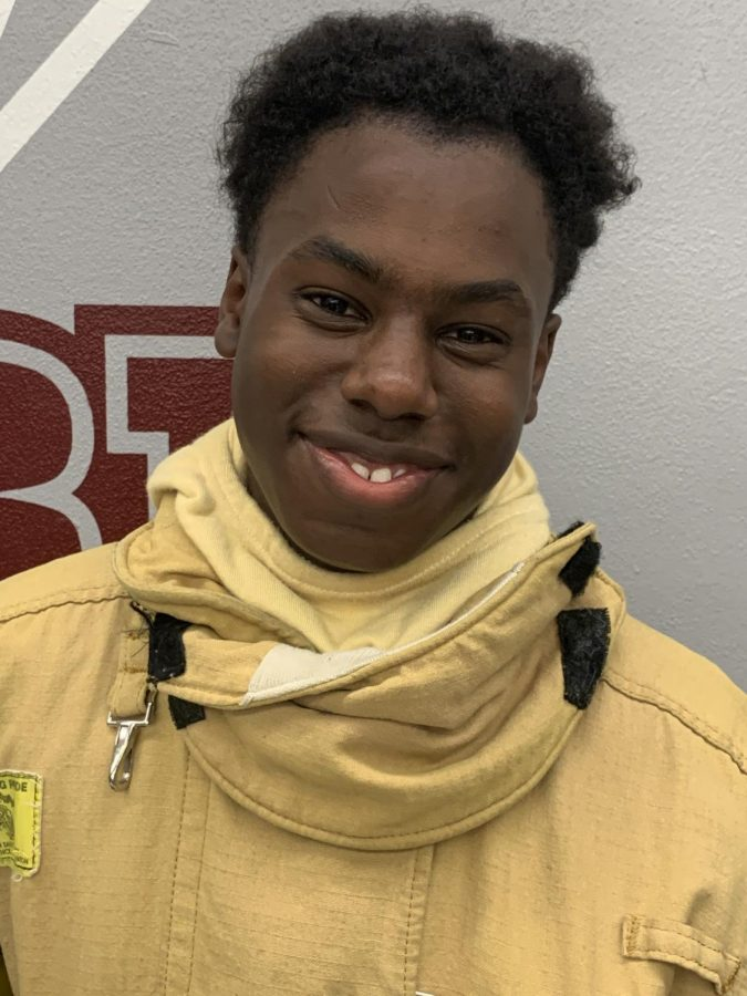 "Tyriez Cambridge--""I really like the physical aspect of the Fire Academy--being outside and being active. It definitely helps the book work come alive."""